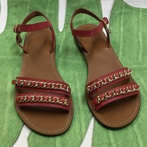 Striking Coach Red Sandals